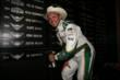 Ed Carpenter puts his name on the Winners Wall at Texas Motor Speedway -- Photo by: Chris Jones