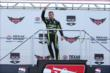 Jack Hawksworth waves to the crowd during pre-race ceremonies for the Firestone 600 at Texas Motor Speedway -- Photo by: Chris Jones