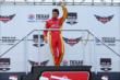 Sebastian Saavedra waves to the crowd during pre-race ceremonies for the Firestone 600 at Texas Motor Speedway -- Photo by: Chris Jones