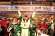 Ed Carpenter celebrates his win in the Firestone 600 at Texas Motor Speedway -- Photo by: Chris Jones