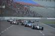 Will Power leads the field into Turn 1 at start of the 2014 Firestone 600 at Texas Motor Speedway -- Photo by: Chris Owens