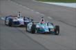 James Hinchcliffe and Ryan Briscoe go nose-to-tail during the Firestone 600 at Texas Motor Speedway -- Photo by: Chris Owens