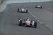 Justin Wilson heads towards Turn 1 during the Firestone 600 at Texas Motor Speedway -- Photo by: Chris Owens