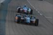 Graham Rahal and Josef Newgarden barrel into Turn 1 during the Firestone 600 at Texas Motor Speedway -- Photo by: Chris Owens