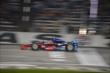 Josef Newgarden streaks across the Start/Finish line during the Firestone 600 at Texas Motor Speedway -- Photo by: Chris Owens