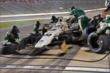 Ed Carpenter Racing go to work during a pit stop in the Firestone 600 at Texas Motor Speedway -- Photo by: Chris Owens