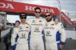 The band Capital Cities prior to their two-seater rides at the Honda Indy Toronto -- Photo by: Chris Jones