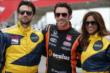 Entertainment Tonight Canada hosts with Simon Pagenaud before their 2-seater rides at the Honda Indy Toronto -- Photo by: Shawn Gritzmacher
