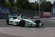Carlos Munoz enters Turn 5 during practice for the Honda Indy Toronto -- Photo by: Chris Jones