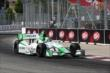 Carlos Munoz enters Turn 11 during practice for the Honda Indy Toronto -- Photo by: Chris Jones