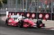 Marco Andretti enters the Dr. Pepper Turn 11 during practice for the Honda Indy Toronto -- Photo by: Chris Jones