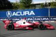 Marco Andretti begins entering Turn 5 during practice for the Honda Indy Toronto -- Photo by: Chris Jones