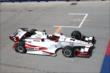 Juan Pablo Montoya approaches the start/finish line during practice for the Honda Indy Toronto -- Photo by: Chris Jones
