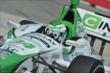 Carlos Munoz apexes Turn 1 during practice for the Honda Indy Toronto -- Photo by: Chris Owens
