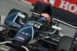 Jack Hawksworth apexes Turn 1 during practice for the Honda Indy Toronto -- Photo by: Chris Owens