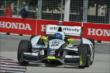 Josef Newgarden apexes Turn 1 during practice for the Honda Indy Toronto -- Photo by: Chris Owens