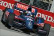 Graham Rahal apexes Turn 1 during practice for the Honda Indy Toronto -- Photo by: Chris Owens