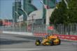 Ryan Hunter-Reay enters Turn 1 during practice for the Honda Indy Toronto -- Photo by: Chris Owens