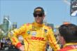 Ryan Hunter-Reay chats with his team prior to practice for the Honda Indy Toronto -- Photo by: Chris Owens