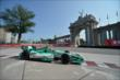 Charlie Kimball passes by the Prince's Gate at Turn 1 during practice for the Honda Indy Toronto -- Photo by: Eric Anderson