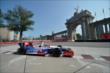 Ryan Briscoe passes by the Princes' Gate at Turn 1 during practice for the Honda Indy Toronto -- Photo by: Eric Anderson