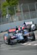 Graham Rahal and Takuma Sato on course during practice for the Honda Indy Toronto -- Photo by: Eric Anderson