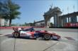 Takuma Sato passes by the Princes' Gate in Turn 1 during practice for the Honda Indy Toronto -- Photo by: Eric Anderson