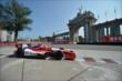 Justin Wilson passes by the Princes' Gate in Turn 1 during practice for the Honda Indy Toronto -- Photo by: Eric Anderson