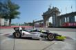 Josef Newgarden passes by the Princes' Gate at Turn 1 during practice for the Honda Indy Toronto -- Photo by: Eric Anderson