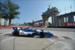Carlos Huertas passes by the Princes' Gate at Turn 1 during practice for the Honda Indy Toronto -- Photo by: Eric Anderson