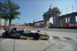 Mike Conway passes by the Princes' Gate at Turn 1 during practice for the Honda Indy Toronto -- Photo by: Eric Anderson