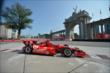 Tony Kanaan passes by the Princes' Gate at Turn 1 during practice for the Honda Indy Toronto -- Photo by: Eric Anderson