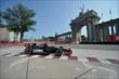 Luca Filippi passes by the Princes' Gate at Turn 1 during practice for the Honda Indy Toronto -- Photo by: Eric Anderson