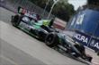 Sebastien Bourdais enters Turn 5 during practice for the Honda Indy Toronto -- Photo by: Joe Skibinski