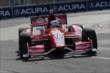 Scott Dixon apexes Turn 5 during practice for the Honda Indy Toronto -- Photo by: Joe Skibinski