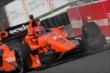 Simon Pagenaud enters Turn 4 during practice for the Honda Indy Toronto -- Photo by: Joe Skibinski