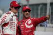 Scott Dixon and Tony Kanaan chat on pit lane prior to practice for the Honda Indy Toronto -- Photo by: Shawn Gritzmacher