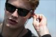 Josef Newgarden prepares for practice on pit lane for the Honda Indy Toronto -- Photo by: Shawn Gritzmacher