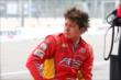 Sebastian Saavedra sits on pit lane prior to qualifications for Race 1 of the Honda Indy Toronto -- Photo by: Chris Jones