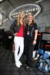 Actress Sarah Fisher meets Verizon IndyCar Series team owner Sarah Fisher in the Honda Indy Toronto paddock -- Photo by: Chris Jones