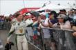 Mike Conway greets the fans during pre-race ceremonies for Race 1 of the Honda Indy Toronto -- Photo by: Chris Jones