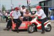 Chip Ganassi chats with Mike Hull prior to qualifications for Race 1 of the Honda Indy Toronto -- Photo by: Chris Owens