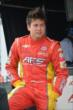 Sebastian Saavedra in his pit stand prior to qualifications for Race 1 of the Honda Indy Toronto -- Photo by: Chris Owens