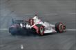 Juan Pablo Montoya heads into Turn 1 during qualifications for Race 1 of the Honda Indy Toronto -- Photo by: Chris Owens