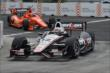 Will Power and Simon Pagenaud enter Turn 3 during qualifications for Race 1 of the Honda Indy Toronto -- Photo by: Chris Owens