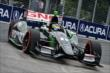 Sebastien Bourdais apexes Turn 5 during qualifications for Race 1 of the Honda Indy Toronto -- Photo by: Chris Owens