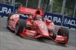 Tony Kanaan apexes Turn 5 during qualifications for Race 1 of the Honda Indy Toronto -- Photo by: Chris Owens