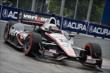 Will Power apexes Turn 5 during qualifications for Race 1 of the Honda Indy Toronto -- Photo by: Chris Owens