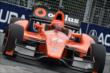Simon Pagenaud apexes Turn 5 during qualifications for Race 1 of the Honda Indy Toronto -- Photo by: Chris Owens