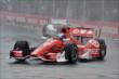 Scott Dixon enters Turn 1 during the attempted start of Race 1 of the Honda Indy Toronto -- Photo by: Chris Owens